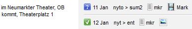 Status icons neben den Angaben zu Publikationskanälen in Desk-Net